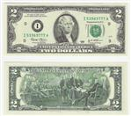 UNITED STATES Paper Money - World 2 DOLLAR BILL